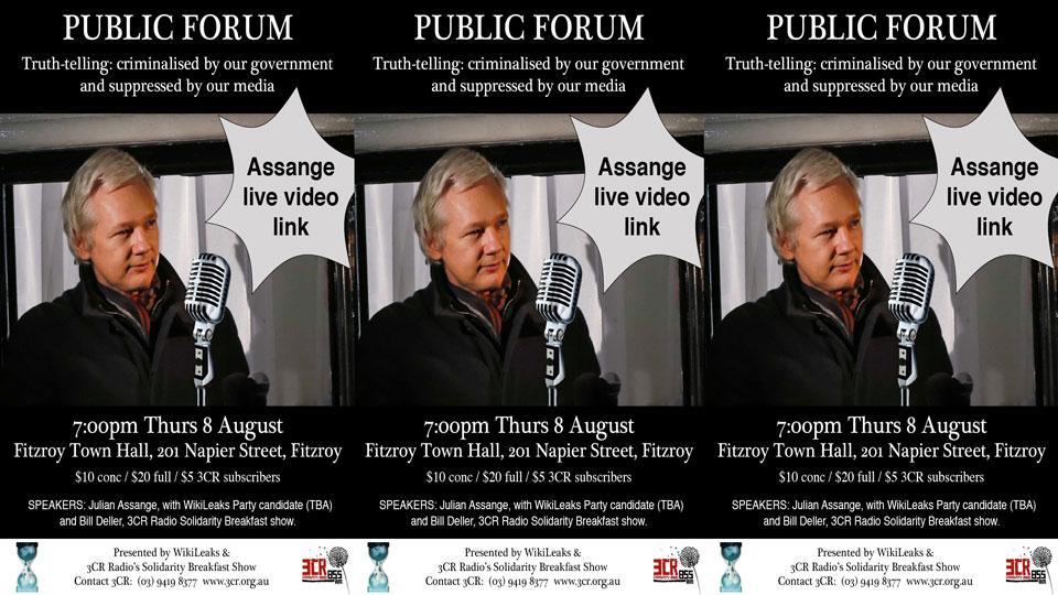 Assange Live Forum