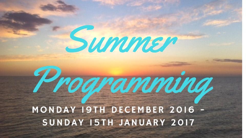 Summer programming 2016 - 2017