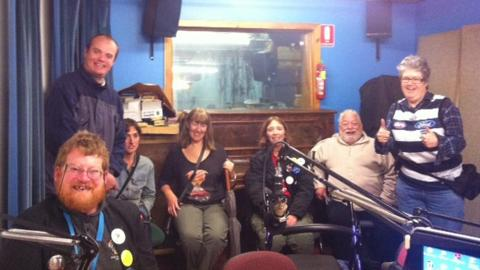 Raising Our Voices presenters: Tim, James, Lisa, Pauline, Susan, Norrie and Amanda
