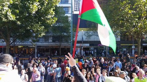 Gaza solidarity rally Melbourne