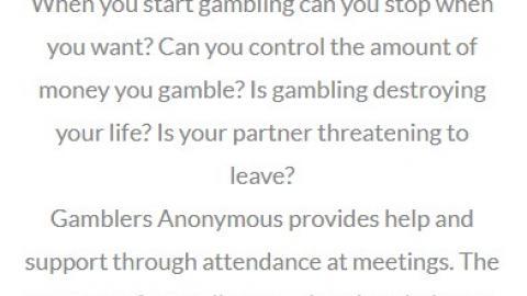 Compulsive Gambler?