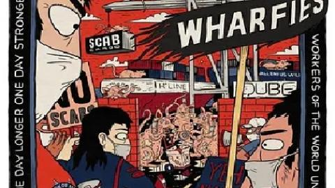 Sam Walllman Limited poster in support of Qube Workers