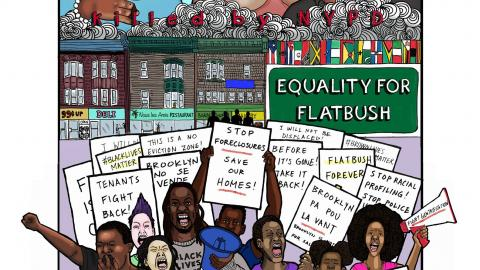 Equality for Flatbush march poster by Vanissa W. Chan