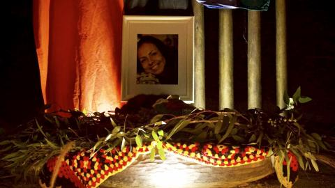 Image of Tanya Day from the 28th Anniversary Narrm vigil for Aboriginal Deaths in Custody