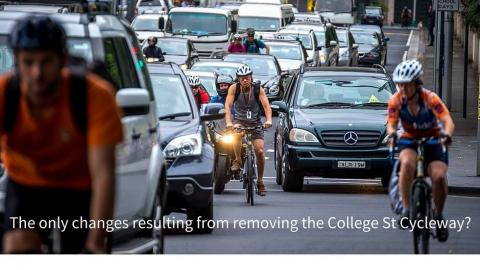 Removal of College St Cycleway and it's consequences