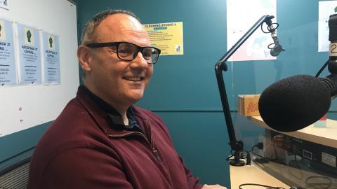 Michael Hands in the 3CR studio