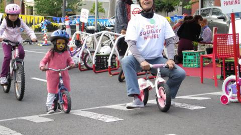 Coming up: Roll Up Bicycle Valet Parking & Wheelie Workshop at  2017 summer event in Queens Park