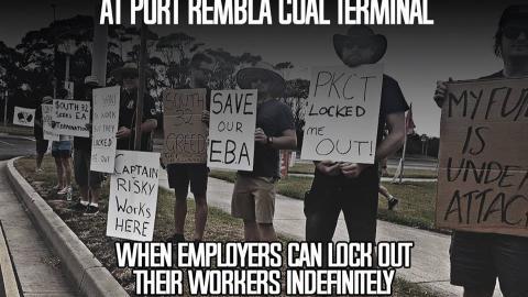 Port Kembla Coal Terminal Workers locked out again