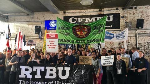 RTBU Launch Campaign: Return Public Transport to Public Hands