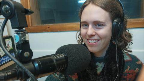 Anna Langford from Friends of the Earth in the 3cr Studio