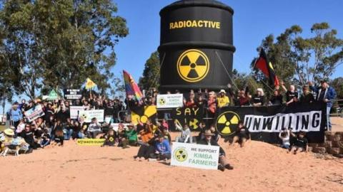 A rally in Kimba to oppose the nuclear waste dump