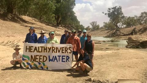 Tilpa Community Protest on the Dry Darling River