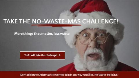 Take the no-waste-mas challenge