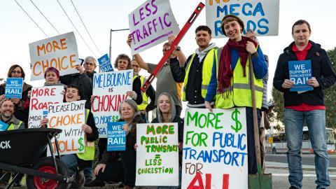 More public transport protest