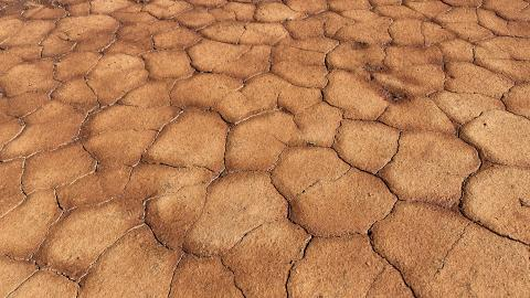 image of cracked and drying earth
