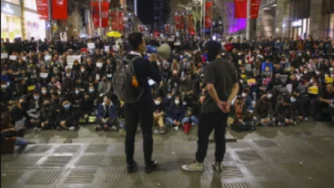 Chinese students in Australia making their voices heard