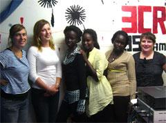 Women participating in Girls on Air