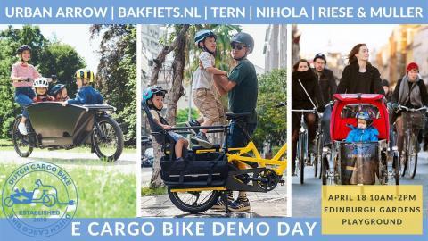 E Cargo Bike Demo Day at Edinburgh Gardens in North Fitzroy, 10am - 2pm,Sunday 18th April 2021