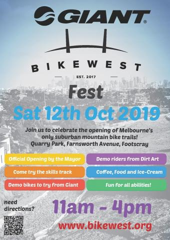 Giant BikeWest Fest on Saturday, 12 October 2019