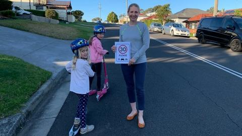 Lena Huda, 30 Please: a campaign to reduce speed limits on Australian streets