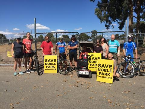 Noble Park residents against Maurice Kirby Velodrome demolition