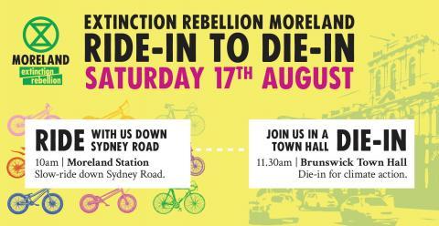 Extinction Rebellion Moreland: Ride In to Die in