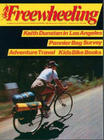 Front cover of an issue of Freewheeling Magazine