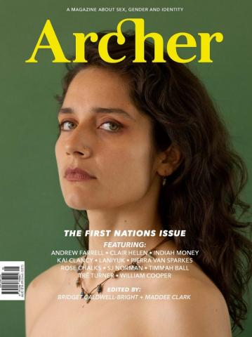 Laniyuk on the cover of Archer Magazine's First Nations issue
