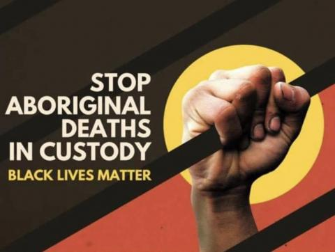 Stop Aboriginal Deaths in Custody National Day of Action 10th April Poster
