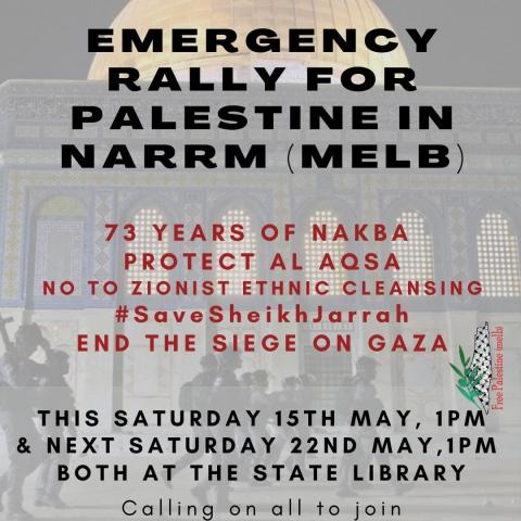 Emergency Rally for Palestine Naarm Poster
