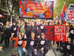 Victorian RAFFWU members at a rally
