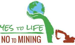 yes to life no to mining logo