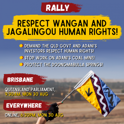 Respect Wangan & Jagalingou Human Rights Rally, Monday 30th August