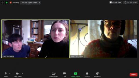 Lucie & Emmett talking to Annie about Too Much World