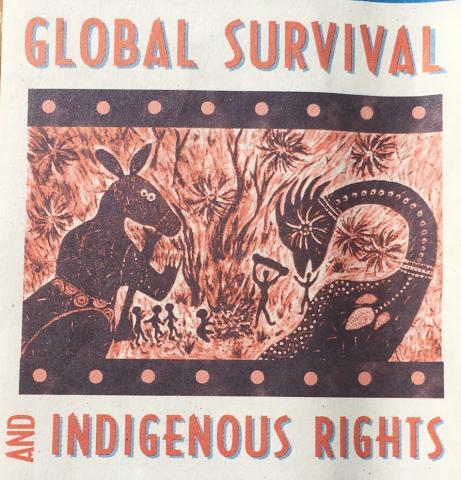 Indigenous solidarity flyer