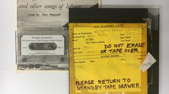 Audio archive material from Westgate Bridge commemorations