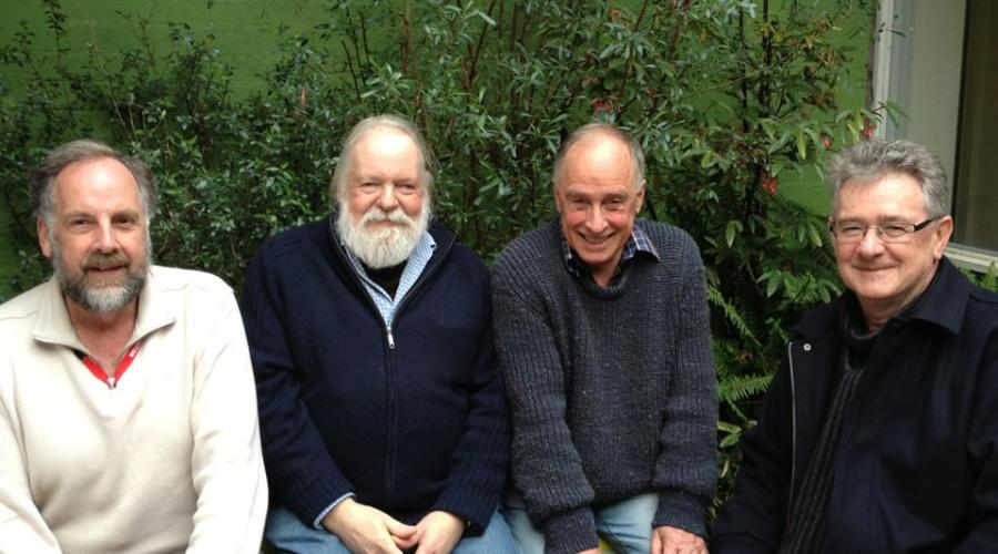 John Smyth, Roger Beilby, John Trudeau and Geoff Tobin