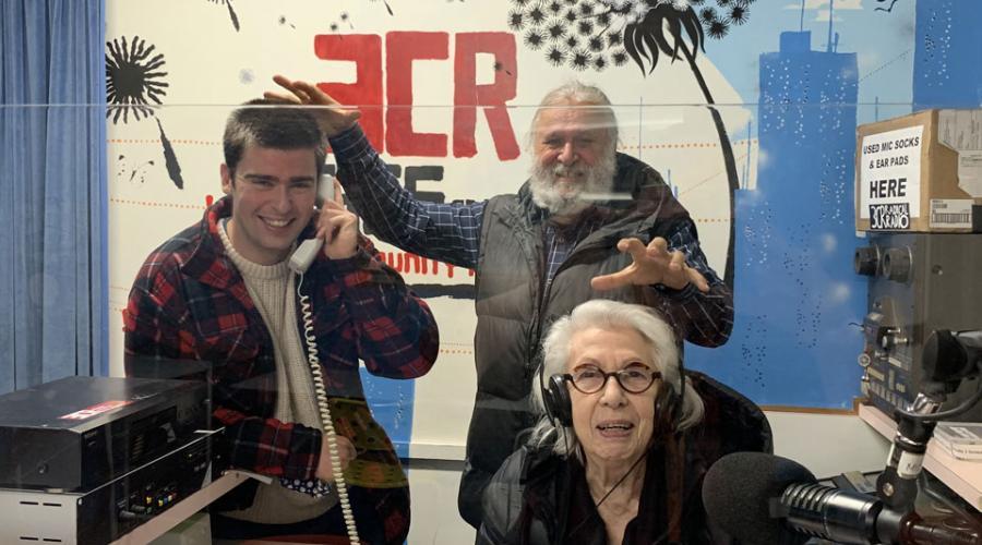 Image of the Talkback team Paddy, Joe and Pat in the studio
