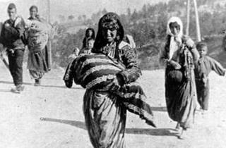 Armenian woman and child in deportations 1915 Armin T Wegner Collection