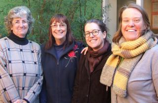 3CR's Gardening Show Team: Gwen Elliot, Pam Vardy, AB, and Millie Ross