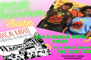 Summer sale of 3CR book and t-shirt