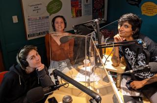 Rosie Isaac, Carly Baque, and Priya Kunjan (Mallika Murthy not pictured)